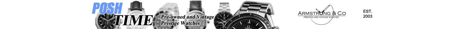 Vintage watch dealer, specialising in Omega watches and other prestige brands